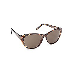 Floozie by Frost French - Light brown tortoise shell cat eye sunglasses