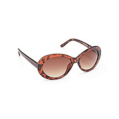 Floozie by Frost French - Light brown oval sunglasses