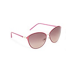 Floozie by Frost French - Pink oversized cat eye sunglasses