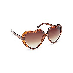 Floozie by Frost French - Light brown tortoise shell heart sunglasses