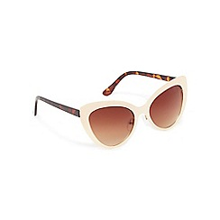 Floozie by Frost French - Gold metal cat eye sunglasses