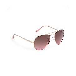 Lipsy - Rose gold plated aviator sunglasses