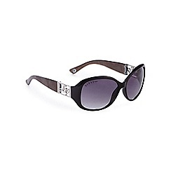 Lipsy - Black oversized logo cut-out sunglasses