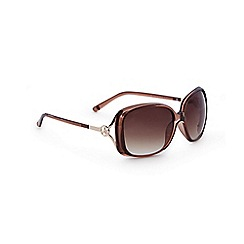 Lipsy - Brown square sunglasses