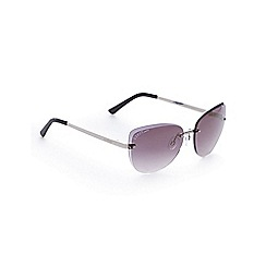 Lipsy - Silver rimless cat eye sunglasses