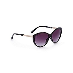 Lipsy - Black metal trim cat eye sunglasses