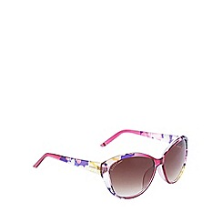Lipsy - Pink floral print cat eye sunglasses