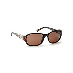 Guess - Brown plastic arm logo sunglasses