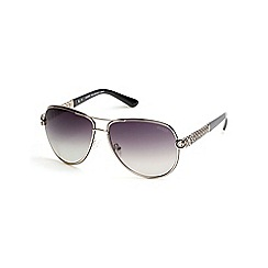 Guess - Gold chain link aviator sunglasses