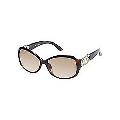 Guess - Brown diamante logo sunglasses