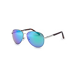 Bloc - Shiny silver 'Dune' flash sunglasses