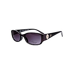 Gionni - Purple small diamante logo sunglasses