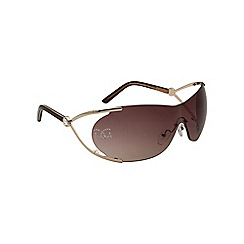 Gionni - Brown visor diamante lens sunglasses
