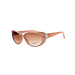 Gionni - Camel small plastic oval diamante detail sunglasses