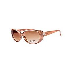 Gionni - Camel small plastic oval diamante detail sunglasses