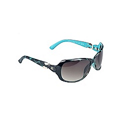Gionni - Turquoise large sunglasses with gem