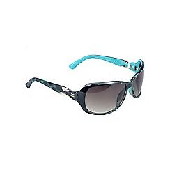 Gionni - Turquoise large sunglasses with gem