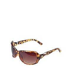 Gionni - Brown large sunglasses with gem