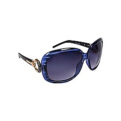 Gionni - Blue oversize frame with circle temple sunglasses
