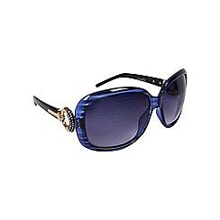 Gionni - Blue oversize frame with circle temple sunglasses