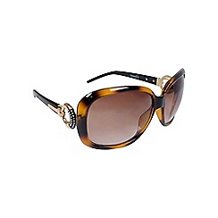Gionni - Brown oversize frame with circle temple sunglasses