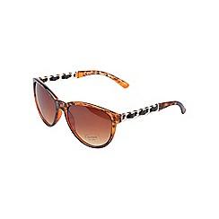 Gionni - Brown catseye chain arm sunglasses