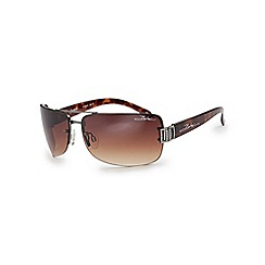 Bloc - Brown tortoiseshell 'Stargaze' rimless sunglasses