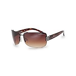 Bloc - Brown tortoiseshell 'Stargaze' rimless sunglasses