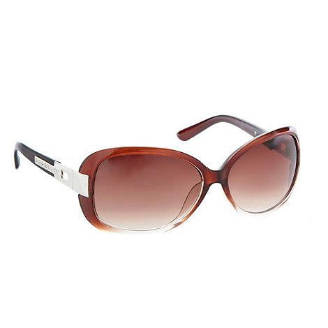 Beach Collection - Brown diamante arm sunglasses