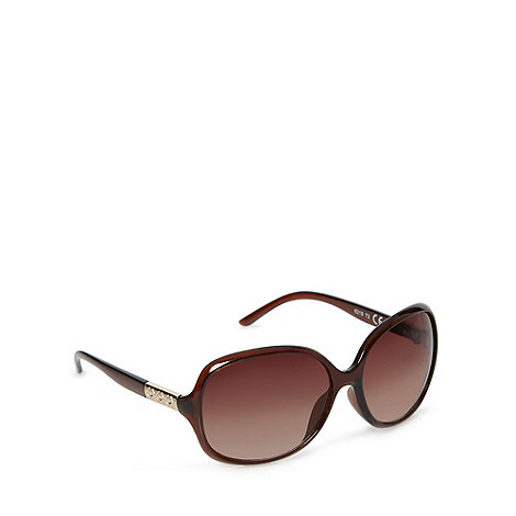 Beach Collection - Brown thin armed plastic frame sunglasses