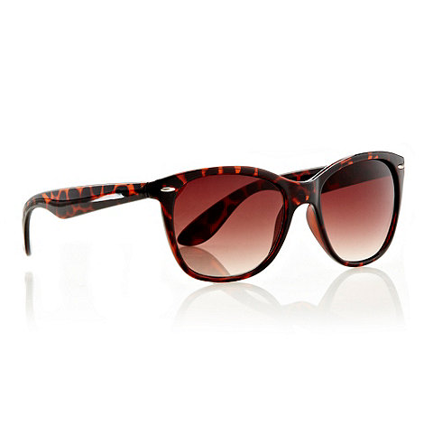 Red Herring - Brown graduating tortoiseshell d-framed sunglasses