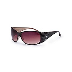 Bloc - Shiny black 'Turin' diamante sunglasses