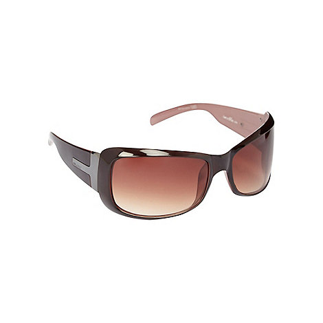 Bloc - Women+s brown tinted rounded square sunglasses