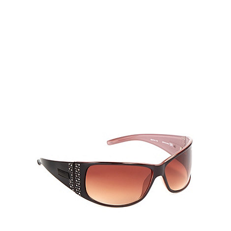 Bloc - Women+s brown +Reims+ stone embellished sunglasses