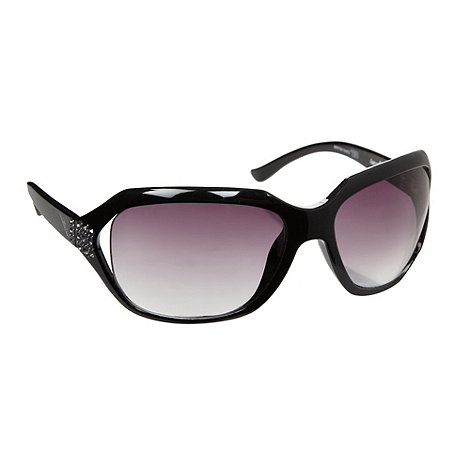 Bloc - Women+s black +Miami+ cut out sunglasses