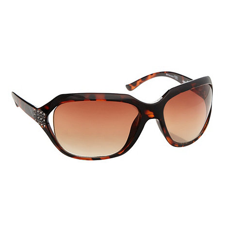 Bloc - Women+s pink animal print sunglasses