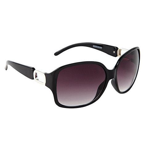 Red Herring - Black rectangle temple sunglasses