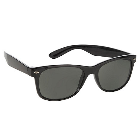 Red Herring - Black plastic d-frame sunglasses