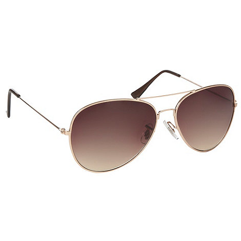 Red Herring - Gold graduating aviator sunglasses