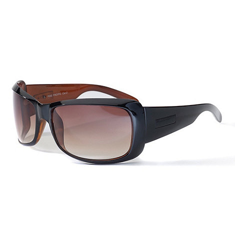 Bloc - Women+s brown full frame rectangular sunglasses