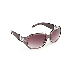 Guess - Purple circle logo square sunglasses