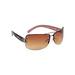 Bloc - Brown 'stargaze' frameless sunglasses