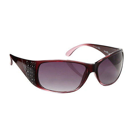 Bloc - Dark red +turin+ embellished sunglasses