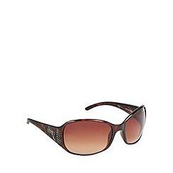 Bloc - Brown diamante tortoise shell sunglasses