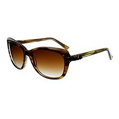 Ted Baker - Olive 'rubea retro' metal bow sunglasses
