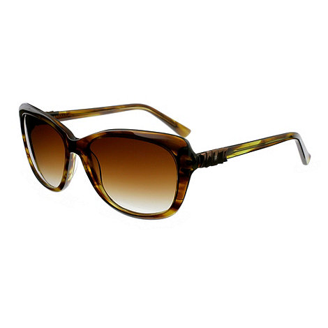 Ted Baker - Olive 'rubea retro' metal bow sunglasses