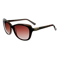 Ted Baker - Brown 'rubea retro' metal bow sunglasses