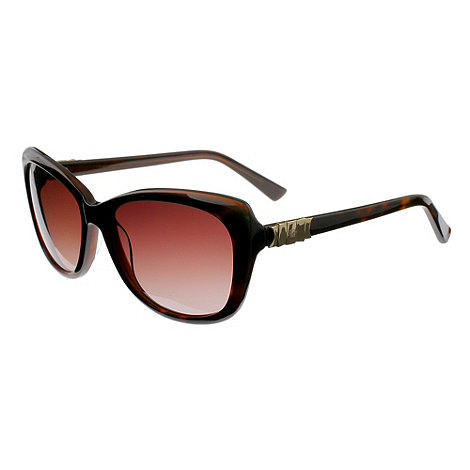 Ted Baker - Brown +rubea retro+ metal bow sunglasses