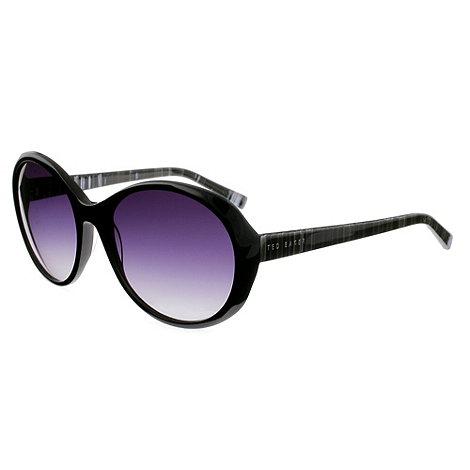 Ted Baker - Black +aubagne+ round frame sunglasses