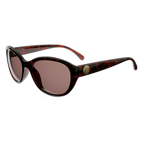 Ted Baker - Brown +sibilia+ oval fashion sunglasses